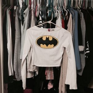 h&m batman cropped long sleeve